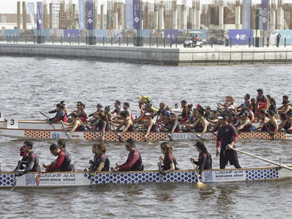 """Fun, Fitness and Camaraderie"" as over 10,000 spectators enjoy DP Dragon Boat Festival at Marasi Business Bay"